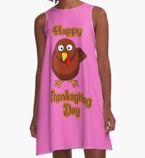 Happy Thanksgiving Day - Mens Womens Boys Girls A-Line Dress