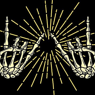 Creepy skeleton rock hands gift by Sandra78