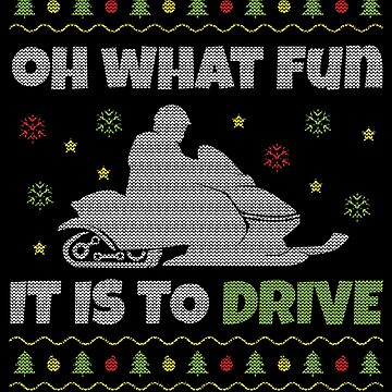 Snowmobile Ugly Christmas Design for Snowmobilers by EstelleStar