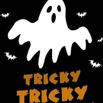 Halloween It's tricky Ghost bat Tricky Gift by Sandra78