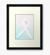 Babyloss Ribbon Framed Print