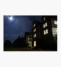 Gregynog at Night Photographic Print