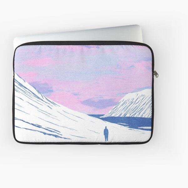 Pink Sky and Snowy Mountains  Laptop Sleeve