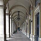 Colonnade in Lisbon by Adri  Padmos