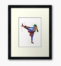 Lady muay thai boxing, muay thai boxing girl Framed Print