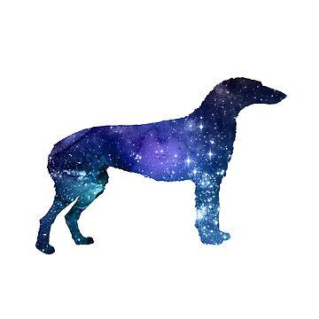 Scottish deerhound by GwendolynFrost