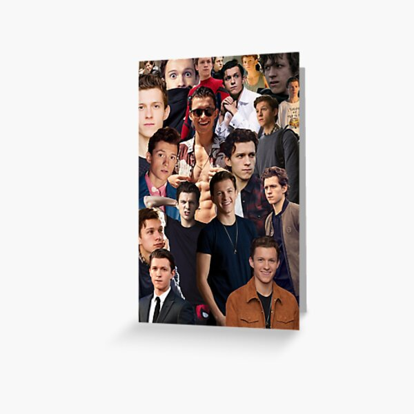 Tom Holland Collage Greeting Card