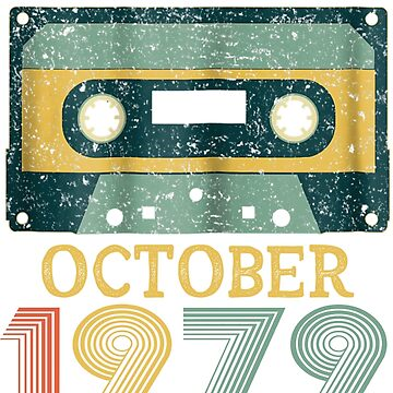 39th Birthday Gift Vintage October 1979 Year Old Mixtape by pigpro
