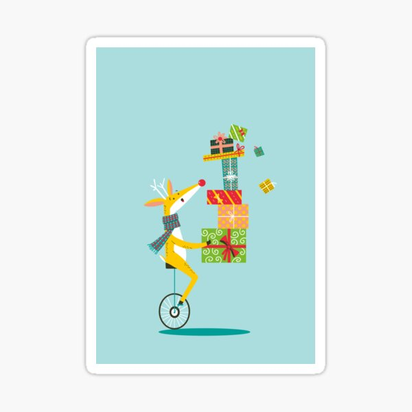 Reindeer gifts delivery Sticker