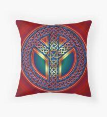 Celtic Knot of Peace - metallic version Throw Pillow
