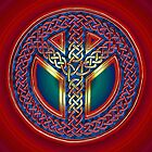 Celtic Knot of Peace - metallic version by Carrie Dennison