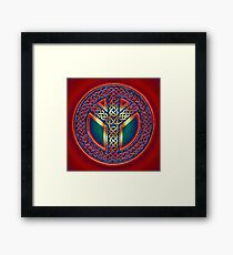 Celtic Knot of Peace - metallic version Framed Print