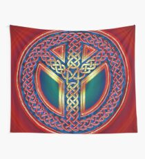Celtic Knot of Peace - metallic version Wall Tapestry