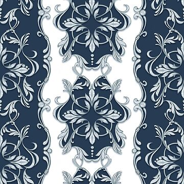 Seamless baroque pattern  by Gribanessa