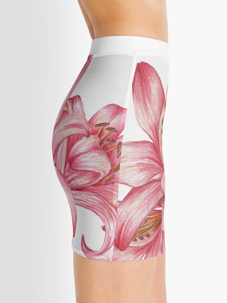 Alternative Ansicht von Lilie flowers_3 Minirock