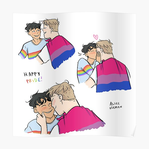 Nick and Charlie - Happy Pride Poster
