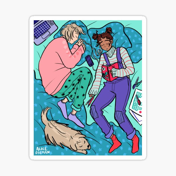 Frances and Aled - Nap Time Sticker