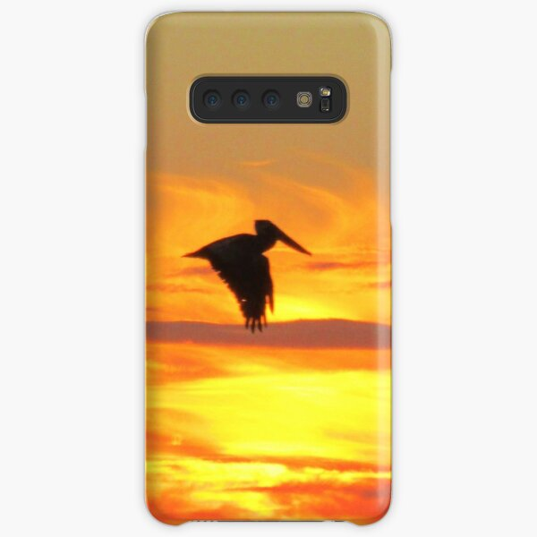 Pelican at sunset Samsung Galaxy Snap Case