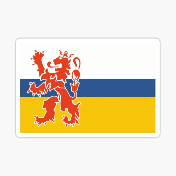 Flag of Limburg Netherlands Sticker