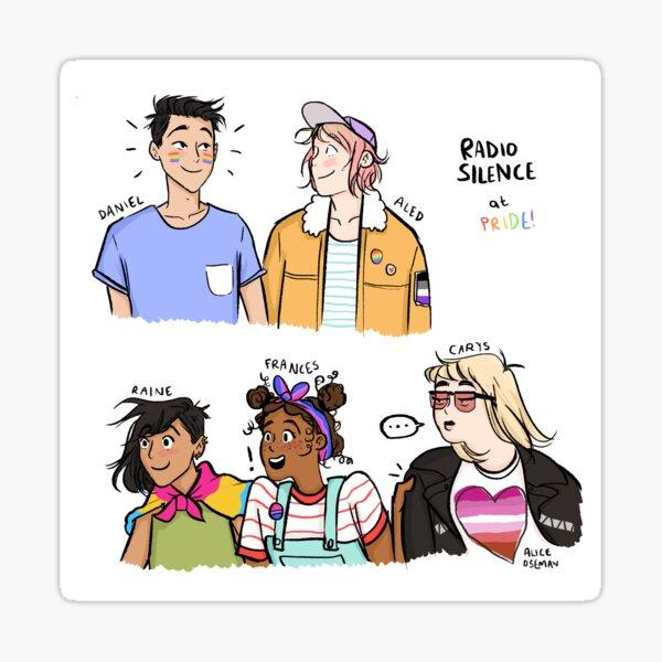 Radio Silence at Pride Sticker