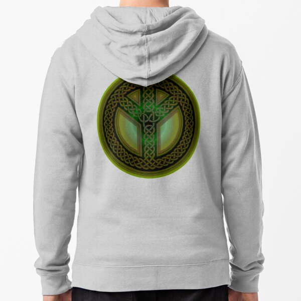 Celtic Knot of Peace Zipped Hoodie