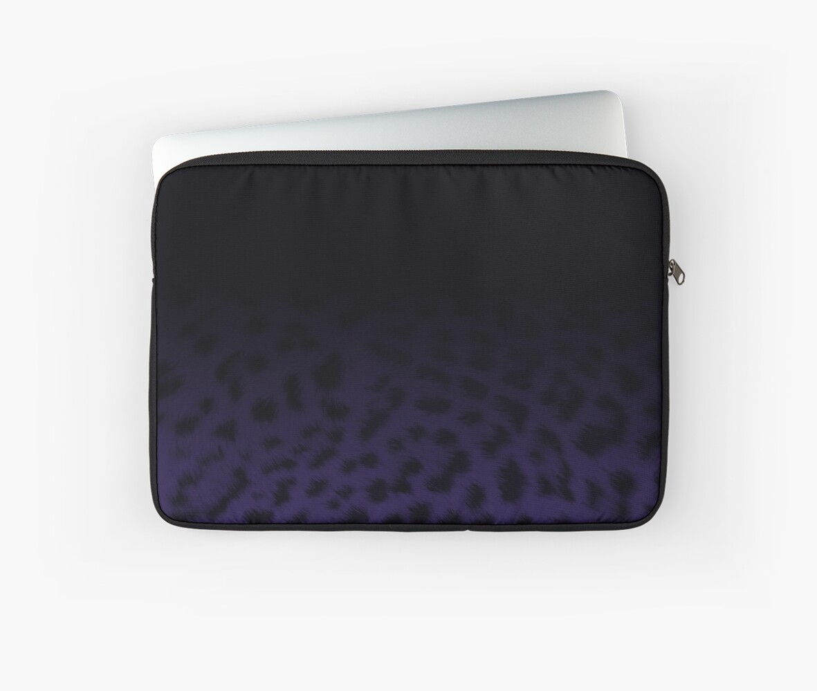 Dark purple ombre leopard by chihuahuashower