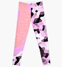 PINK AND CORAL 1984 STYLE DESIGN FOR HOME DECOR THAT IS FUN FRESH AND UNIQUE- GRAPHIC  Leggings