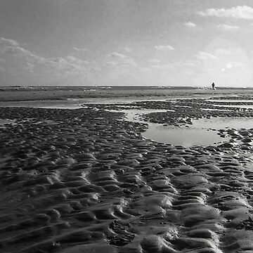 beach in black and white by robelf