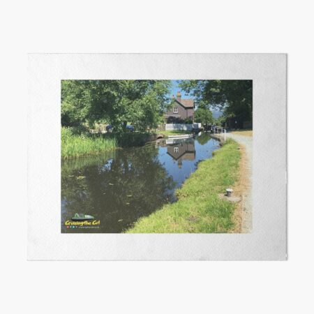 Cottage on the Montgomery canal Art Board Print