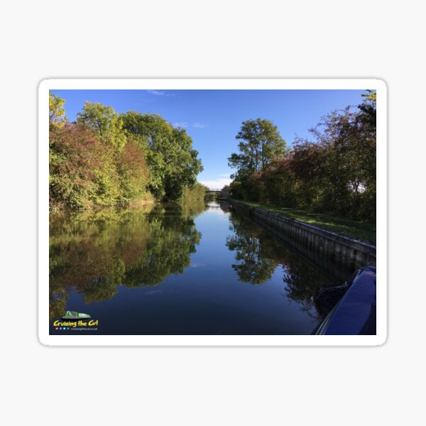 Autumnal canal view Sticker