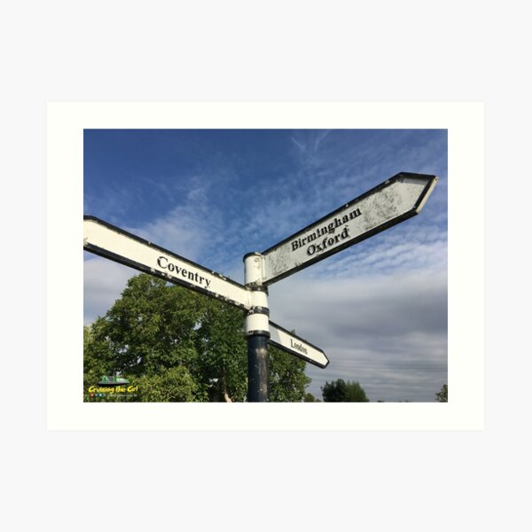 Canal sign at Braunston Art Print