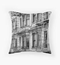 Allison Hotel (Black & White) Throw Pillow