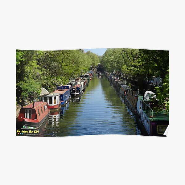 Canal at Little Venice in London Poster