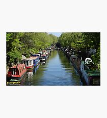 Canal at Little Venice in London Photographic Print
