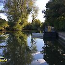 Canal view at Marsworth, England by CruisingTheCut