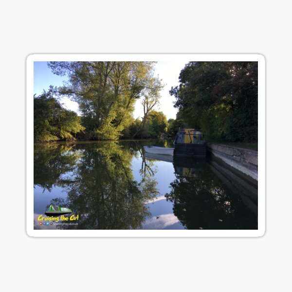 Canal view at Marsworth, England Sticker