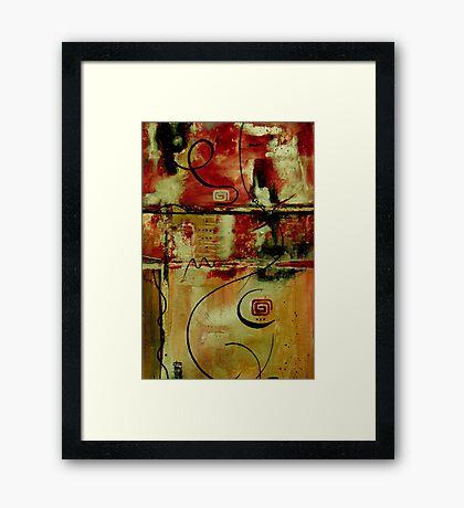 Crimson And Copper Framed Print
