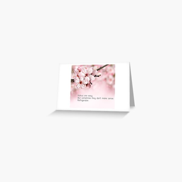 Funny Haiku Greeting Card