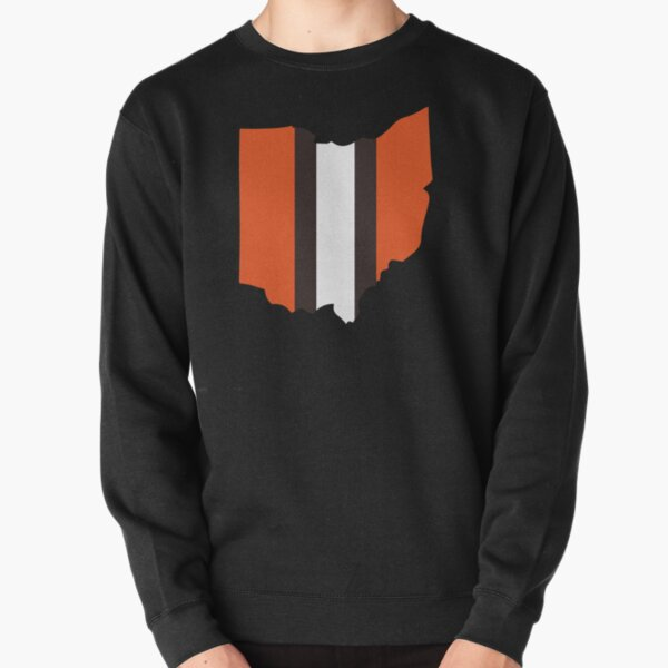 Cleveland Browns Stripe Pullover Sweatshirt