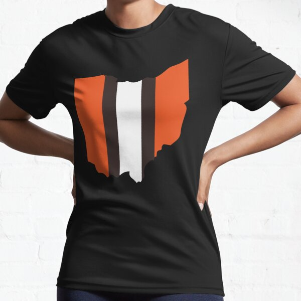 Cleveland Browns Stripe Active T-Shirt
