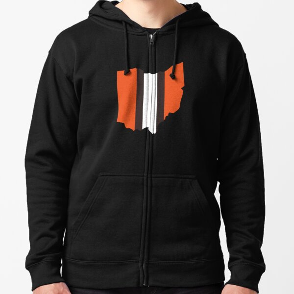 Cleveland Browns Stripe Zipped Hoodie