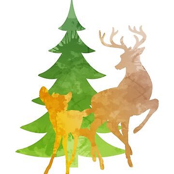 Christmas Deer Inspired Silhouette by InspiredShadows