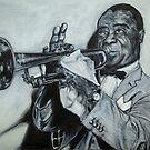 Louis Armstrong 1953 by Sanjib Ahmad