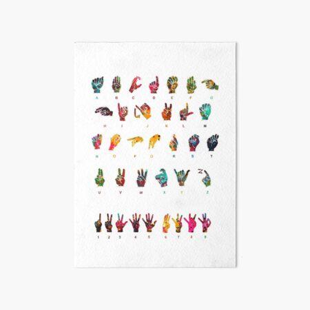 Sign Language Alphabet Art Board Print