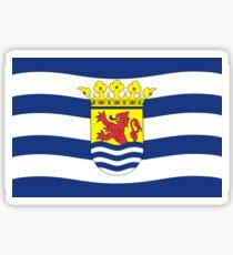 Flag of Zeeland Netherlands Sticker