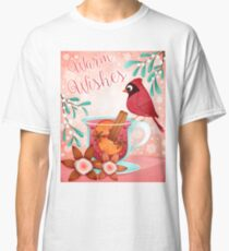 Christmas red cardinal and hot wine Classic T-Shirt