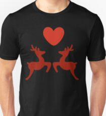 Two lovers reindeer Unisex T-Shirt