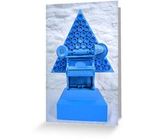 Blue Shock Box of Infinate Desires.(Curser) Greeting Card