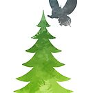 Elephant Christmas Tree Inspired Silhouette by InspiredShadows