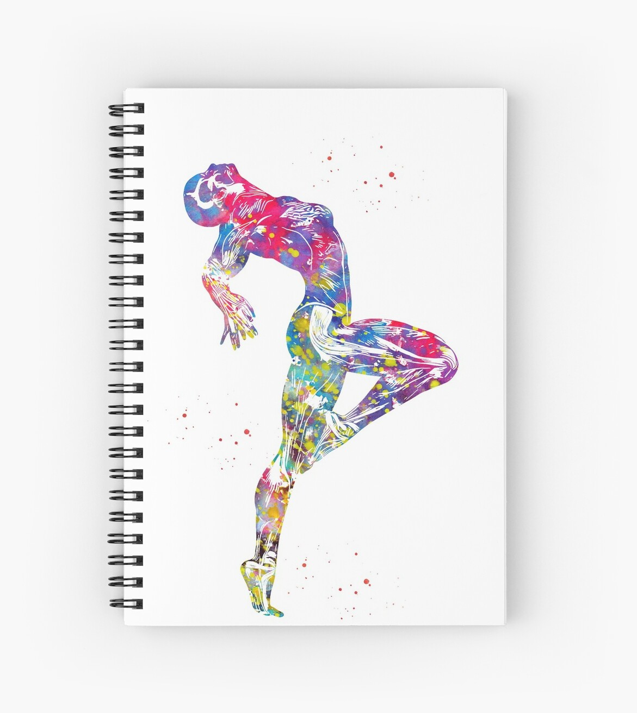 Human Muscle Anatomyfemale Muscle Spiral Notebooks By Erzebetth